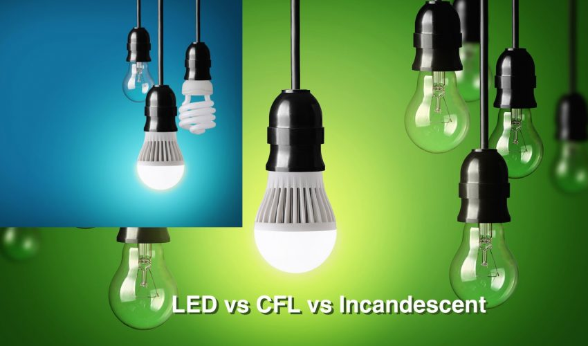 LED vs CFL vs Incandescent Light Bulbs